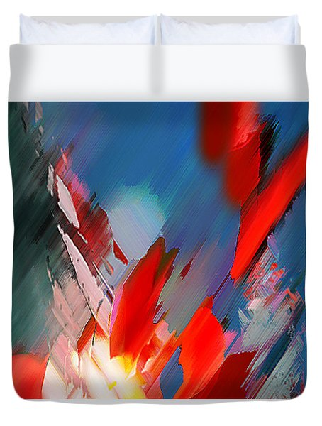 Abstract 11 Duvet Cover by Anil Nene