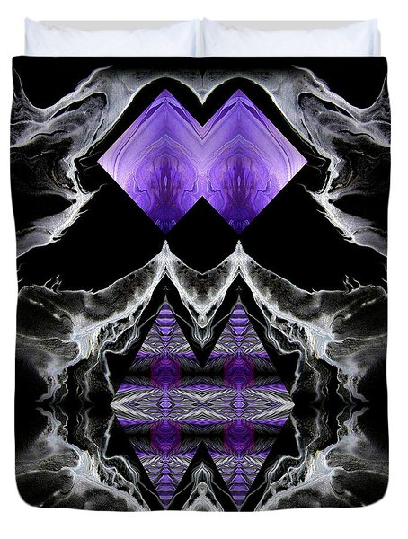 Abstract 136 Duvet Cover by J D Owen