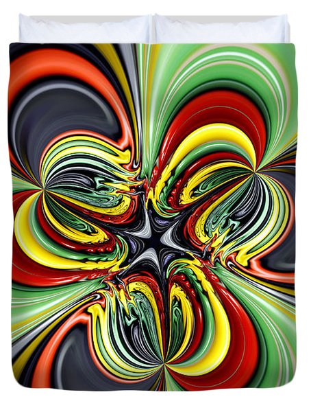 Abstract 301 Duvet Cover by Cheryl Young