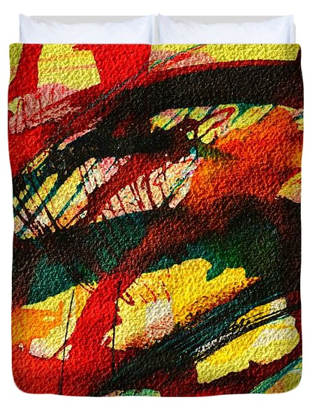 Abstract 73 Duvet Cover by Ana Maria Edulescu