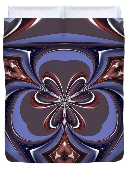 Abstract A027 Duvet Cover by Maria Urso