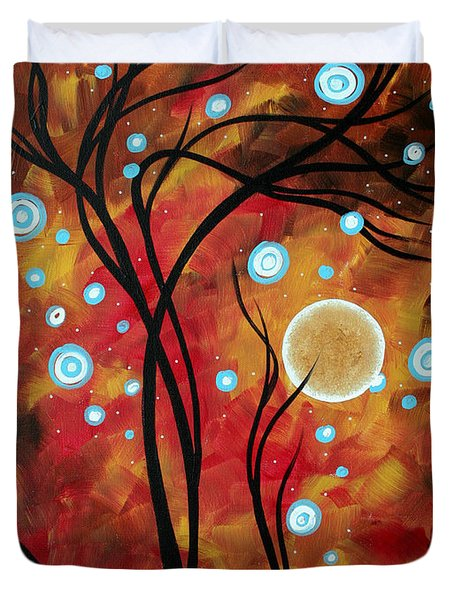 Abstract Art Original Landscape Circle Painting Fairy Dust By Madart Duvet Cover by Megan Duncanson