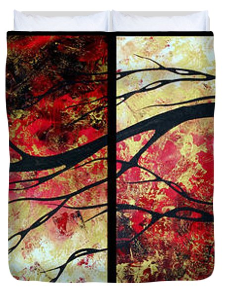 Abstract Art Original Landscape Painting Bring Me Home By Madart Duvet Cover by Megan Duncanson