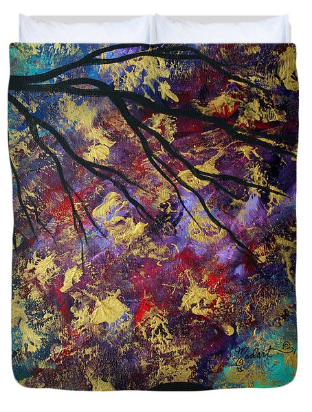 Abstract Art Original Landscape Painting Go Forth IIi By Madart Studios Duvet Cover by Megan Duncanson
