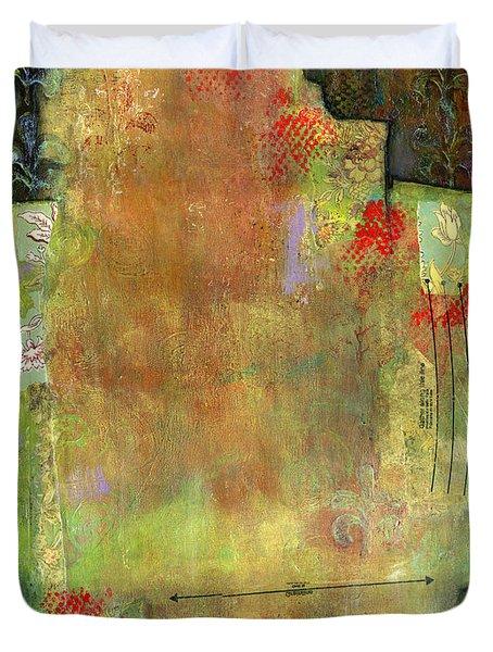 Abstract Art Where The Love Is Duvet Cover by Blenda Studio