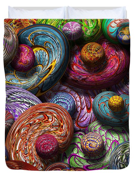 Abstract - Beans Duvet Cover by Mike Savad