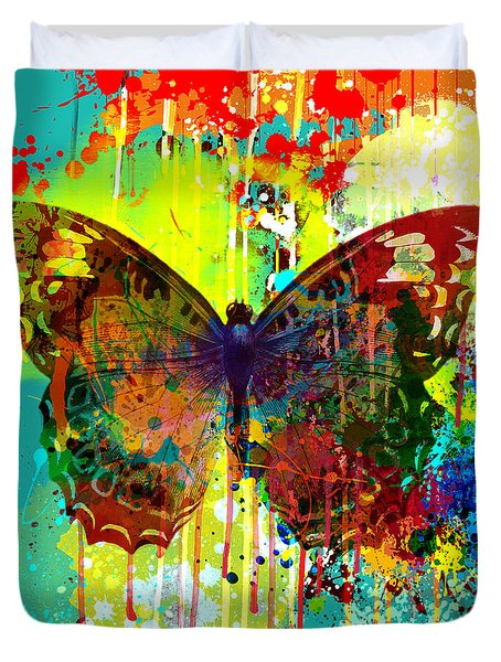 Abstract Butterfly Duvet Cover by Gary Grayson