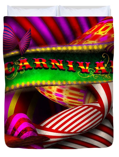 Abstract - Carnival Duvet Cover by Mike Savad