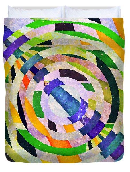Abstract Circles Duvet Cover by Susan Leggett