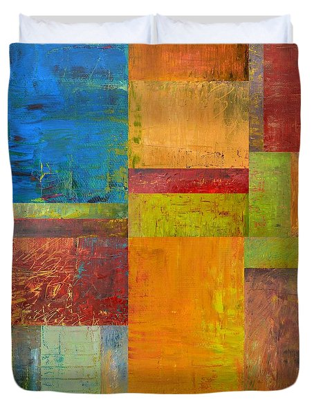 Abstract Color Study Collage ll Duvet Cover by Michelle Calkins