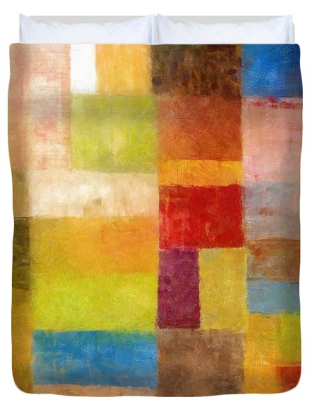 Abstract Color Study Vii Duvet Cover by Michelle Calkins