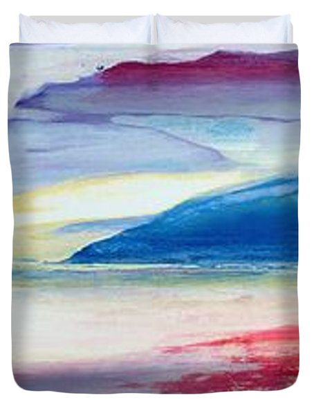 Abstract Composition Duvet Cover by Lou Gibbs