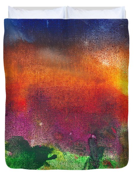 Abstract - Crayon - Utopia Duvet Cover by Mike Savad