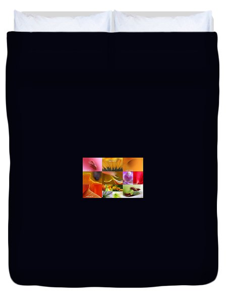 Abstract Fine Art Flower Photography Duvet Cover by Juergen Roth