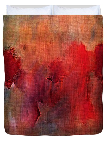 Abstract Flames Duvet Cover by M and L Creations