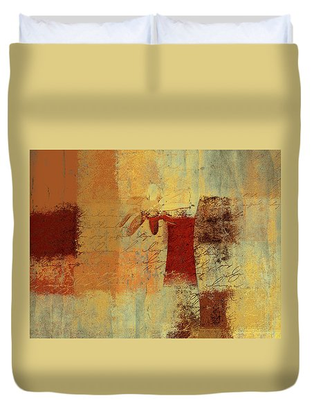 Abstract Floral - 14v4i-t2b2 Duvet Cover by Variance Collections