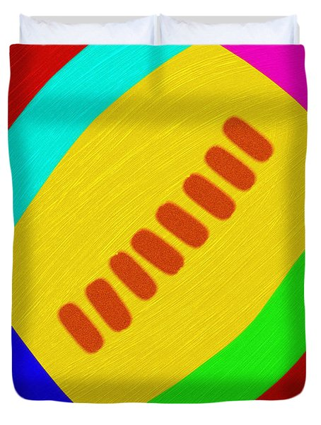 Abstract Football Duvet Cover by Andee Design