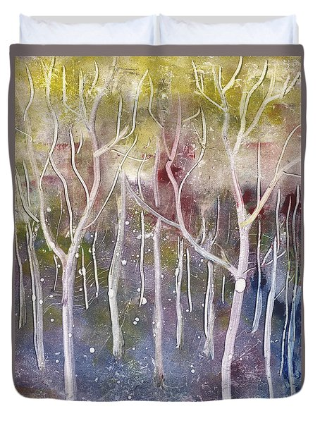 Abstract Forest Duvet Cover by Suzette Broad