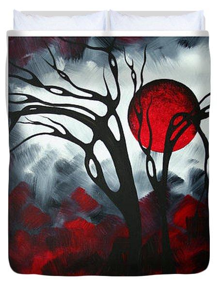 Abstract Gothic Art Original Landscape Painting Imagine By Madart Duvet Cover by Megan Duncanson