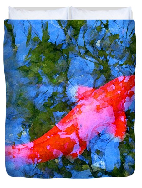 Abstract Koi 4 Duvet Cover by Amy Vangsgard