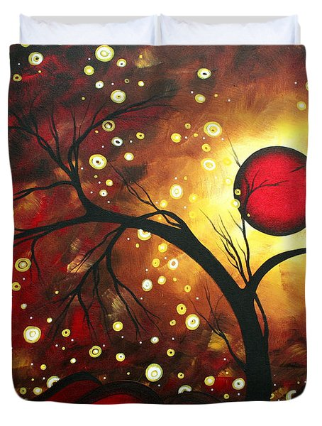 Abstract Landscape Glowing Orb by MADART Duvet Cover by Megan Duncanson