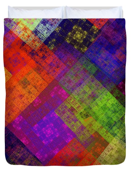 Abstract - Rainbow Infusion - Square Duvet Cover by Andee Design