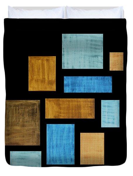 Abstract Rectangles Duvet Cover by Frank Tschakert