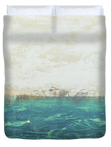 Abstract Seascape 02/14a Duvet Cover by Filippo B