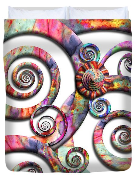 Abstract - Spirals - Wonderland Duvet Cover by Mike Savad