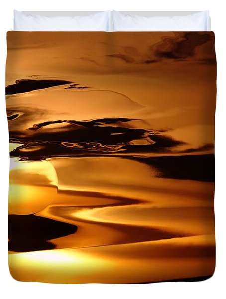 Abstract Sunrise Duvet Cover by Jeff Swan