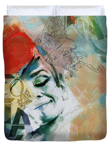 Abstract Women 008 Duvet Cover by Corporate Art Task Force