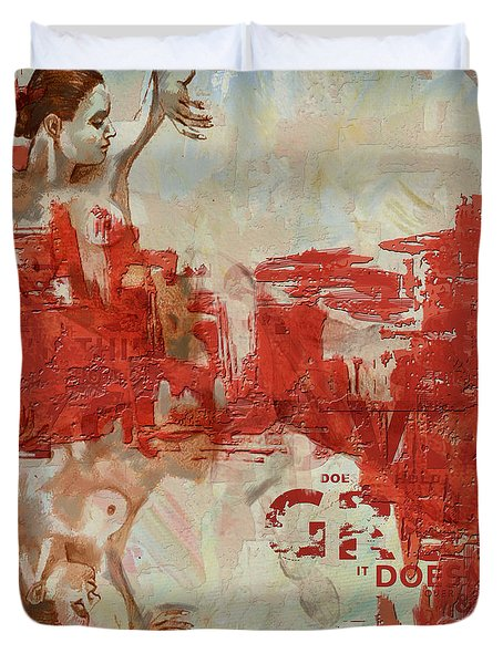 Abstract Women 20 Duvet Cover by Corporate Art Task Force