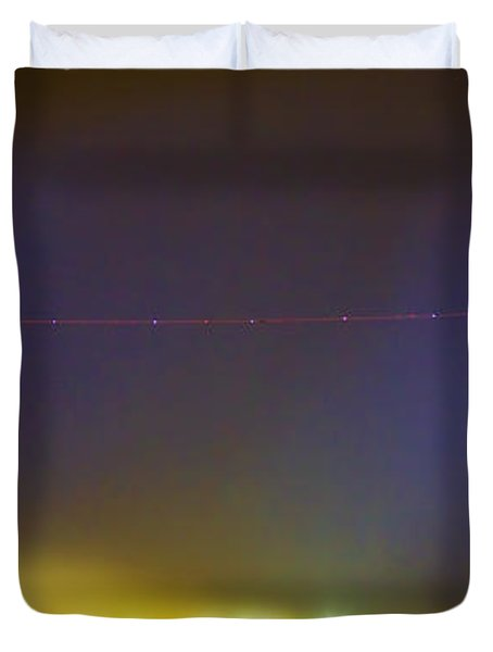 AC Strike Over the City Lights Panorama Duvet Cover by James BO  Insogna