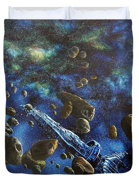 Accidental Asteroid Duvet Cover by Murphy Elliott