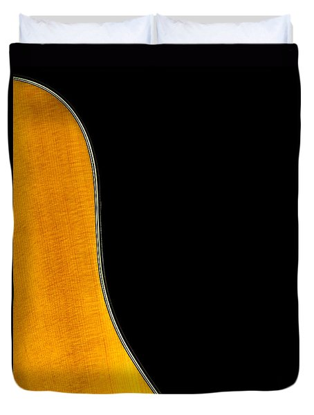 Acoustic Curve In Black Duvet Cover by Bob Orsillo