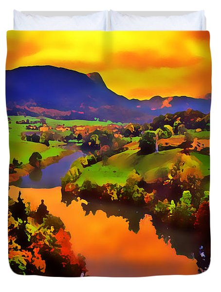 Across The Valley Duvet Cover by Stephen Anderson