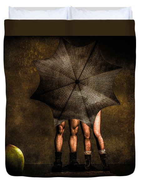 Adam And Eve Duvet Cover by Bob Orsillo