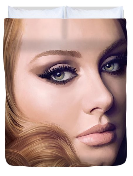 Adele Artwork  Duvet Cover by Sheraz A