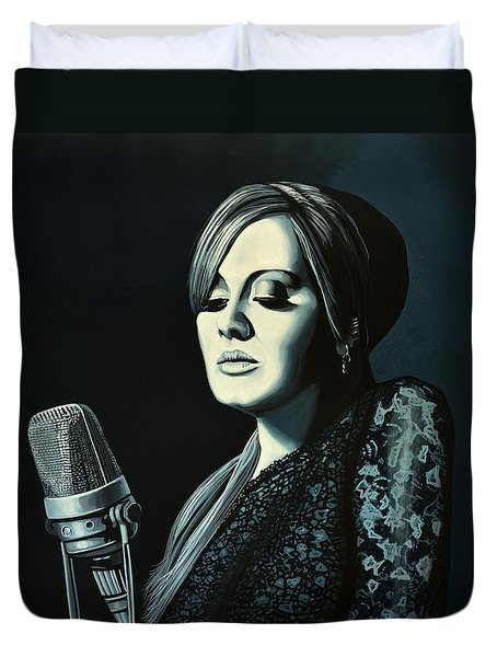 Adele Skyfall Painting Duvet Cover by Paul Meijering