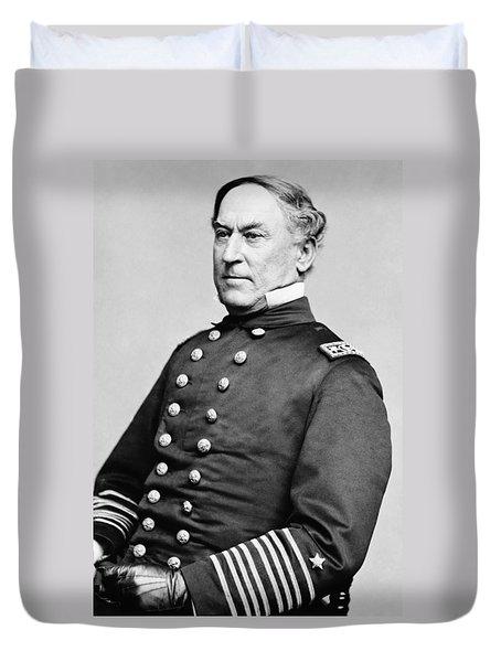 Admiral David Farragut Duvet Cover by War Is Hell Store