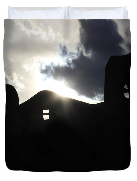 Adobe in the Sun Duvet Cover by Mike McGlothlen