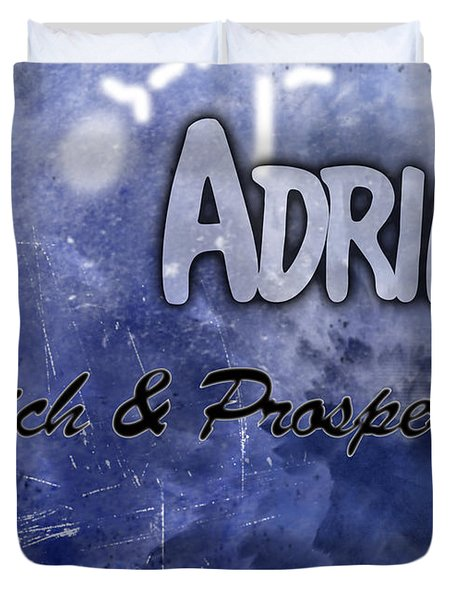 Adrian - Rich And Prosperous Duvet Cover by Christopher Gaston