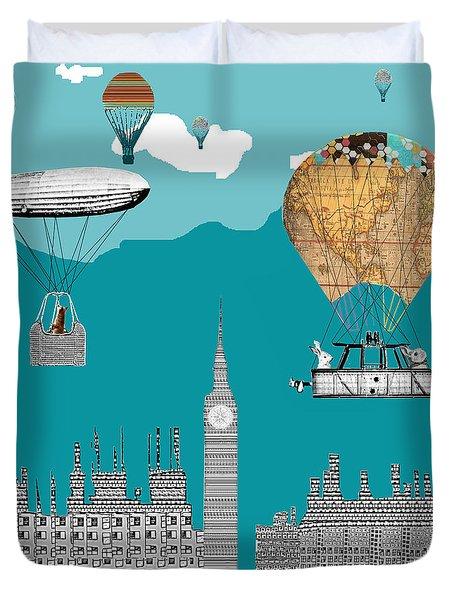 Adventure Days London Duvet Cover by Bri B