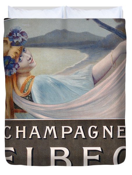 Advertisement For Champagne Delbeck Duvet Cover by Louis Chalon