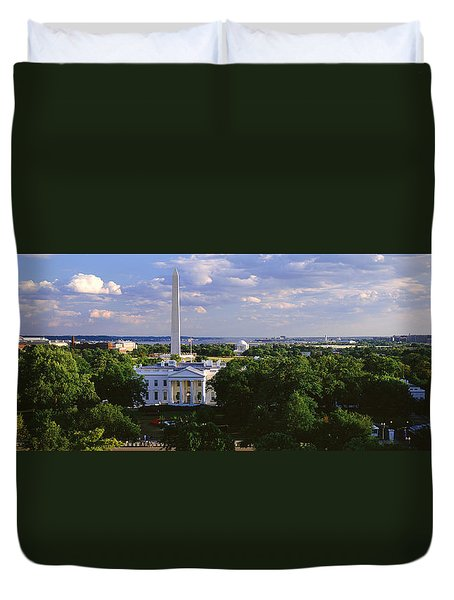Aerial, White House, Washington Dc Duvet Cover by Panoramic Images