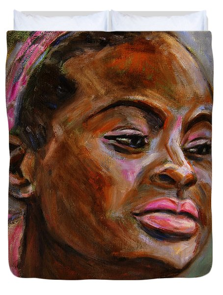 African American 3 Duvet Cover by Xueling Zou