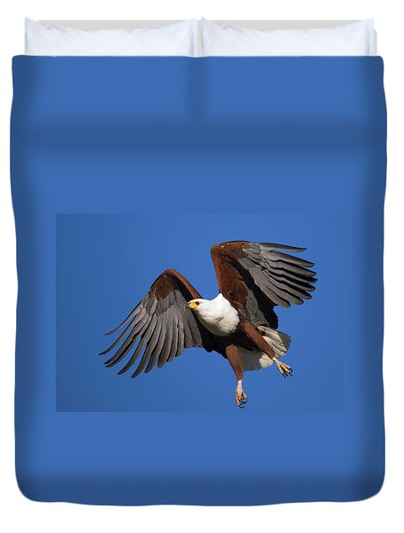 African Fish Eagle Duvet Cover by Johan Swanepoel