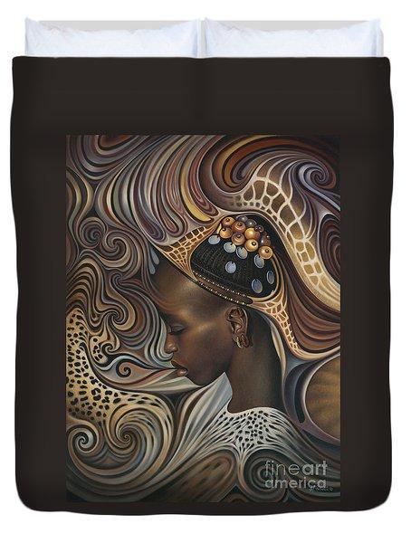 African Spirits II Duvet Cover by Ricardo Chavez-Mendez