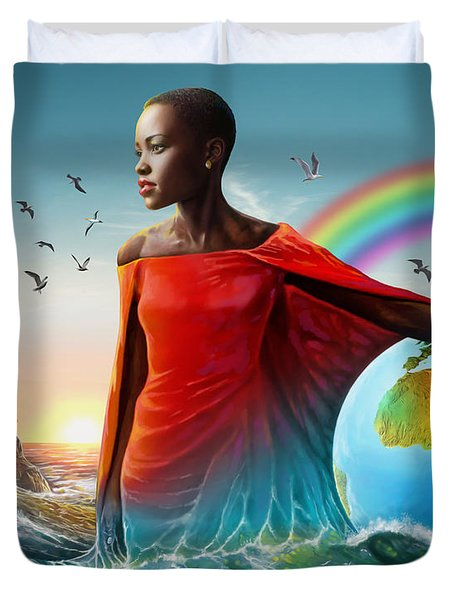 The Lupita Tsunami Duvet Cover by Anthony Mwangi