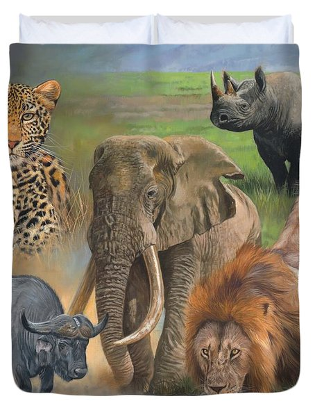 Africa's Big Five Duvet Cover by David Stribbling